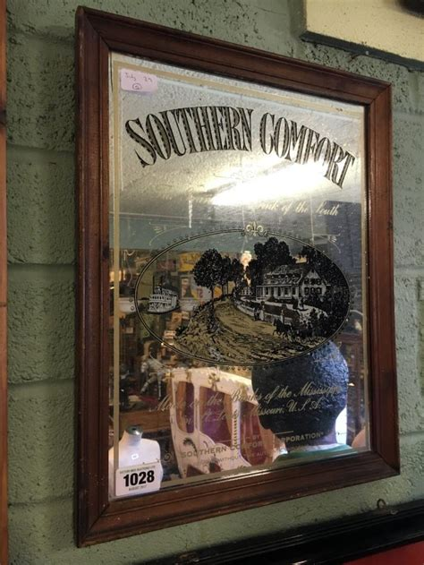 southern comfort mirror framed southern comfort whiskey mirror