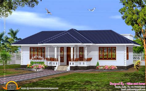 single floor house plans kerala style