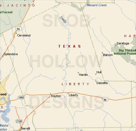 liberty county texas map liberty county texas color map