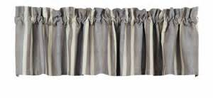 Grey Kitchen Valance Curtain Valance Gray Striped Contemporary Decor