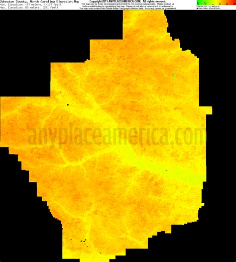carolina elevation map free johnston county carolina topo maps elevations