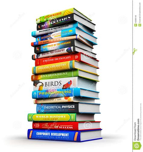 book of big advice for an easier books big stack of color hardcover books stock illustration