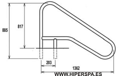 barandilla piscina barandilla piscina 1362 empotrar aisi 316 hiperspa