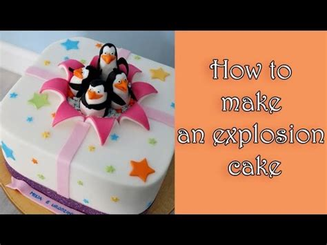 explosion box cake tutorial how to make an explosion cake tutorial jak zrobić tort z