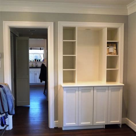 bookcase with cabinets on bottom custom dry bar bookcase built ins installed last week