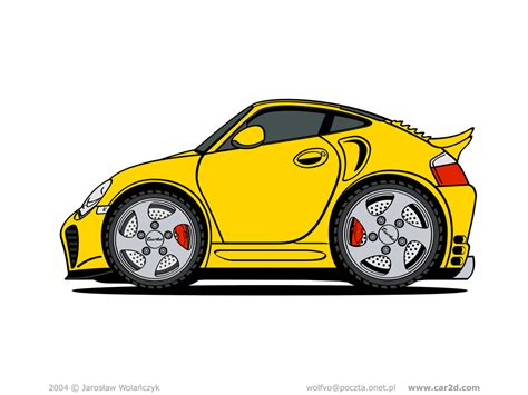 porsche cartoon drawing car illustrations