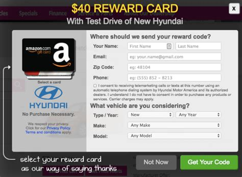 Hyundai Test Drive Gift Card - free 40 gift card with hyundai test drive target amazon or visa gift card