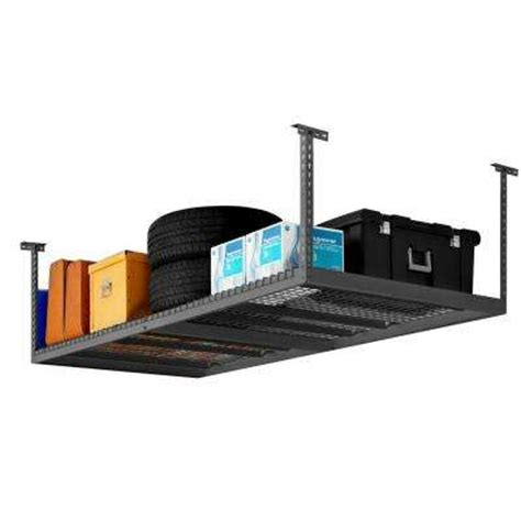 Garage Ceiling Storage Home Depot ceiling mounted racks garage shelves racks the home depot