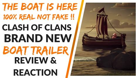 new clash of clans boat trailer 100 real not a leek new - Clash Of Clans Boat Trailer