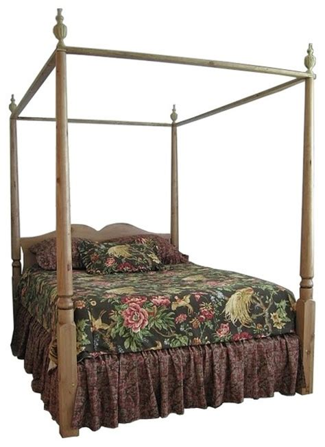 double canopy bed 4 poster canopy double bed w removable finials french