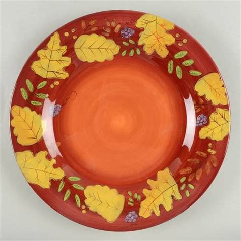 leaf pattern dinnerware set laurie gates fall leaves at replacements ltd