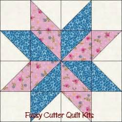 scrappy fabric 8 sided points star pre cut easy quilt top