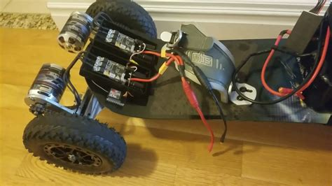 Bor Up Motor diy electric mountain board vesc and 10s battery with 149 kv motor upgrade