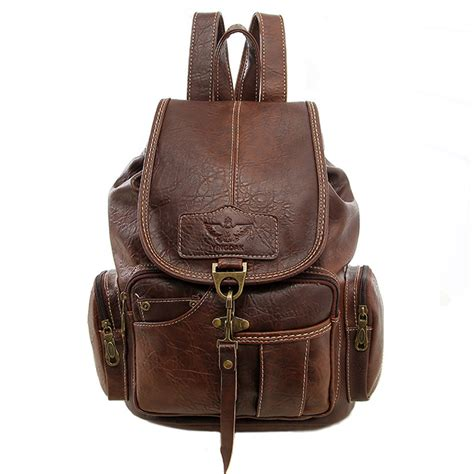 aliexpress buy new leather backpack fashion