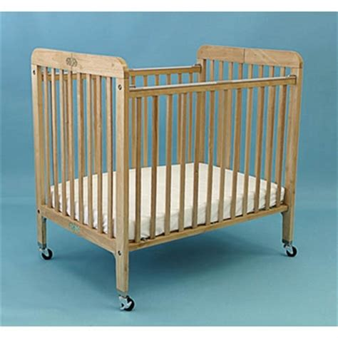La Baby Wood Folding Crib Natural Free Shipping 189 88 La Baby Portable Crib