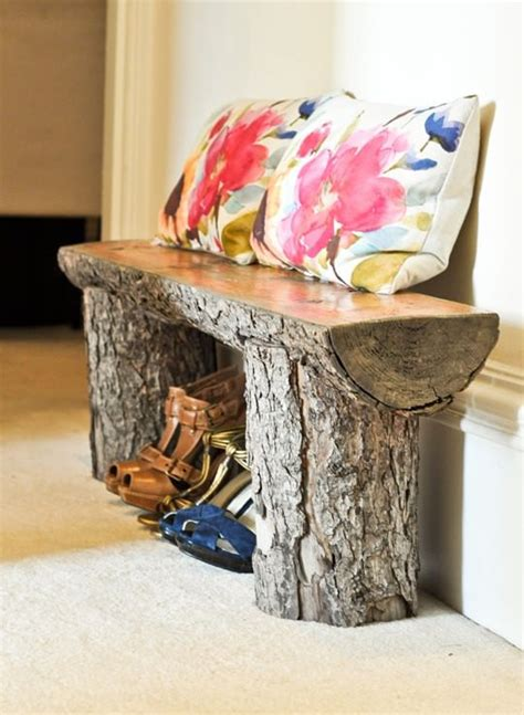 how to make benches out of logs salvaged tree bench recyclart