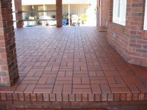 patio tiles concrete basketweave with quarry tile concrete patio