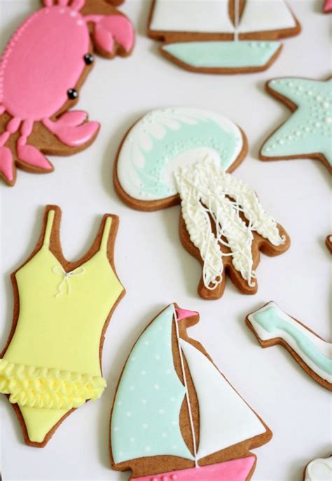 Summer Decorated Cookies by By The Sea Decorated Cookies Sweetopia