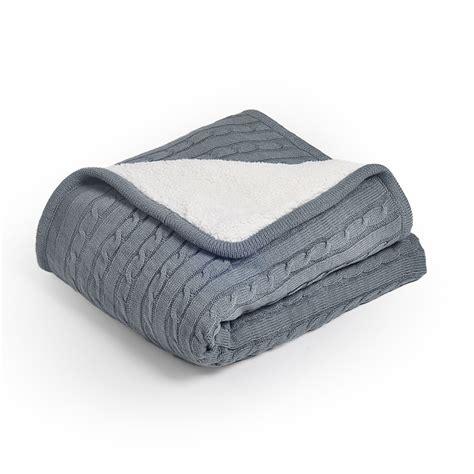 Wohndecke Baumwolle Grau moderne wohndecke strickdecke aus baumwolle grau 150 200cm