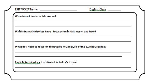 classroom exit ticket template agility teaching toolkit exit tickets