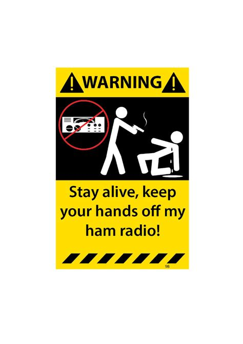 ham radio is alive and well books stay alive keep your my ham radio warning sticker