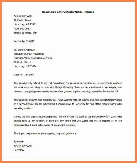 Employee Resignation Letter Doc 5 Employee Resign Notice Notice Letter