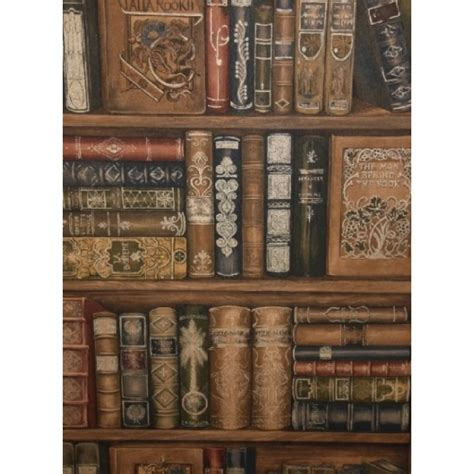 norwall library bookcase wallpaper ll29570 all 4 walls
