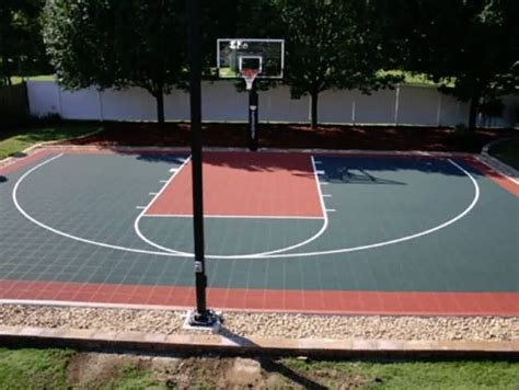 backyard basketball court tiles outdoor basketball court tile for backyard courts