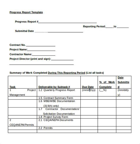 summary report template summary report template 8 free sles exles format