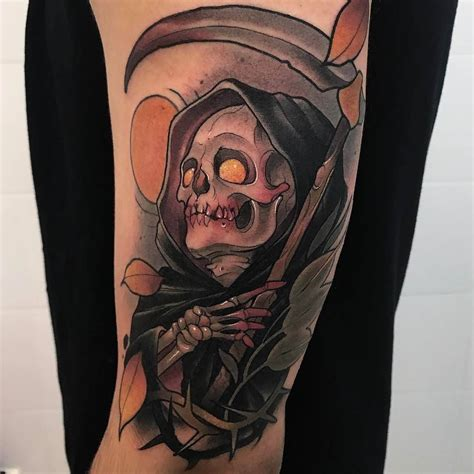 traditional grim reaper tattoo quot you re dead to me quot tattoos