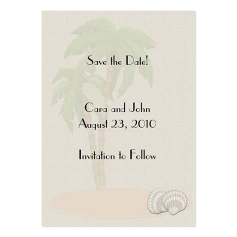 free save the date business card templates save the date tropical large business cards pack of 100