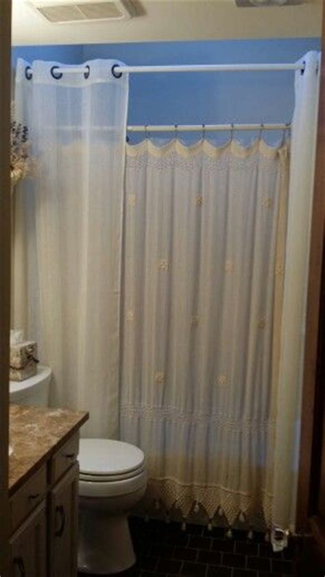 curtain placement double shower curtain placement not these curtains but