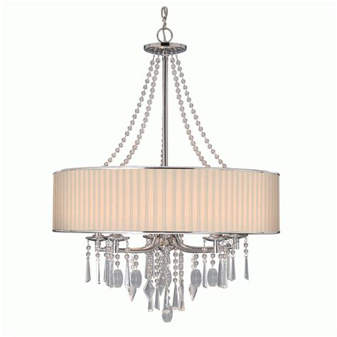 Chandelier With Shades Large Drum Shade Chandelier Chandelier