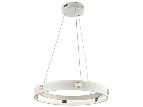 Lumium Lighting by Plc Lighting Lumium White 18 Wide Led Pendant 87824wh