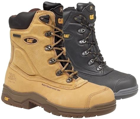 Free Kaos Kaki Caterpillar Safety Boot Zipper Steel Toe Bagus Murah 1 caterpillar supremacy safety boot with side zip