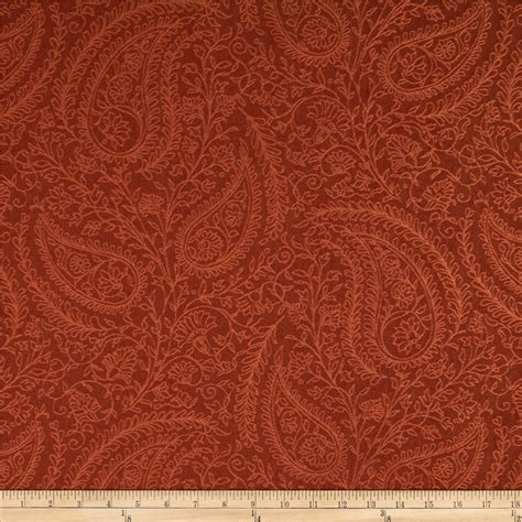 upholstery fabrics discount robert allen promo upholstery paisley line persimmon