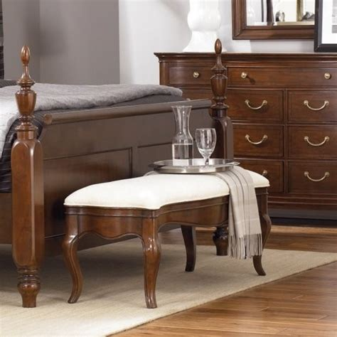 traditional bedroom benches cherry grove generation bed bench multicolor 091 480