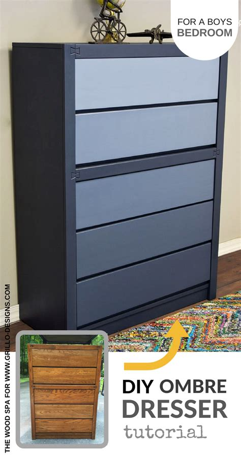 diy blue ombre dresser tutorial   boys bedroom