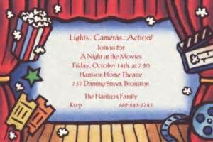 custom  theatre invitations party city