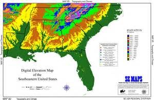 Elevation Map United States by Se Maps Regional Maps Home