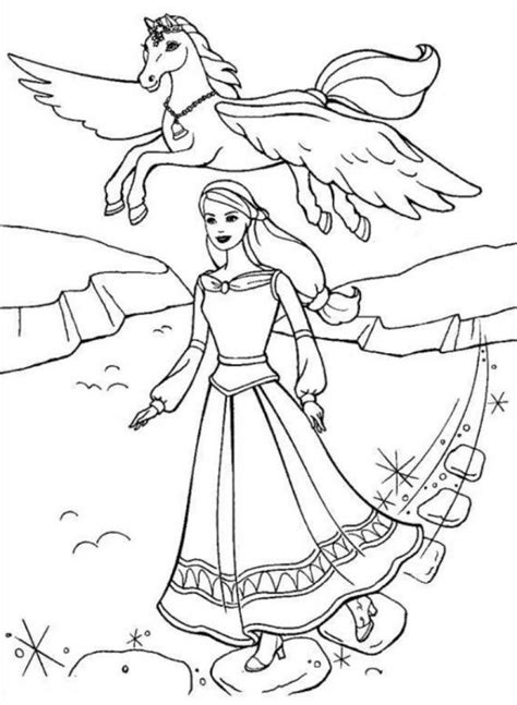 barbie coloring pages with horses 15 images of barbie coloring pages horse racing barbie