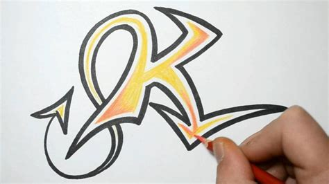 Letter K Drawing by How To Draw Graffiti Letters K