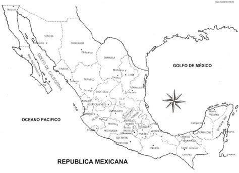 Mexico Map Coloring Page coloring pages september 2009