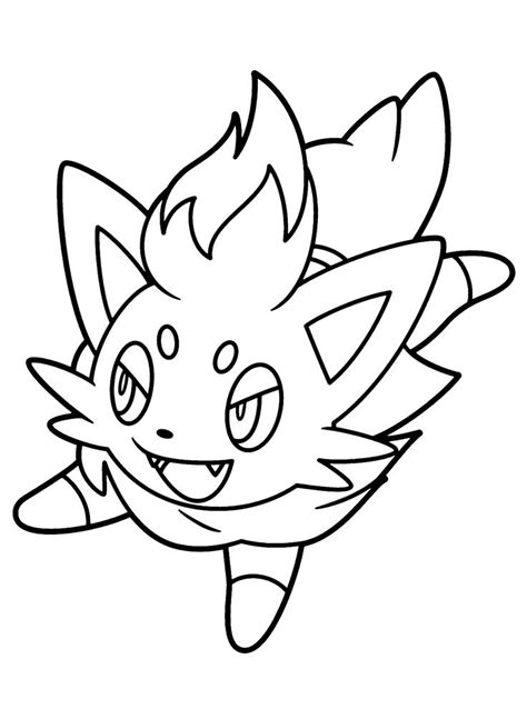 pokemon coloring pages of zorua pokemon zorua pok 233 mon colouring pages pinterest
