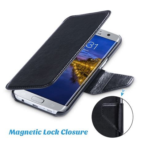 Samsung Galaxy S7 Edge Flipcase Magnetic Sliding Leather Flip for samsung galaxy s7 edge leather removable magnetic
