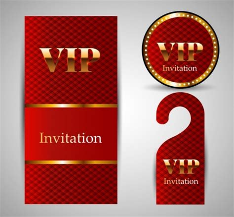 shiny card template vip invitation card template sets shiny golden vectors