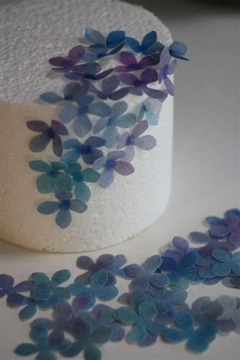 How To Make Edible Wafer Paper Flowers - 50 solid color wafer paper flowers for cake decorating