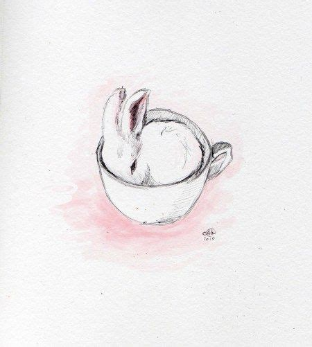 rabbit tattoo pen bunny cup tea cup graphic designers and bunny