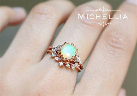 Wedding Anniversary Opal by Vintage Opal Floral Engagement Ring With Solid