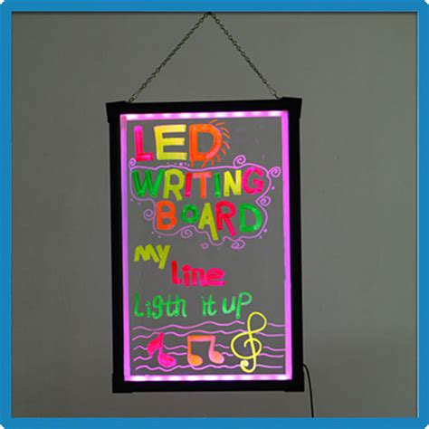 Zd Glowing high quality zd glow pad transparent panel led drawing
